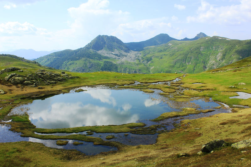 Glacial lake on Mt. Dobrodol in Albania