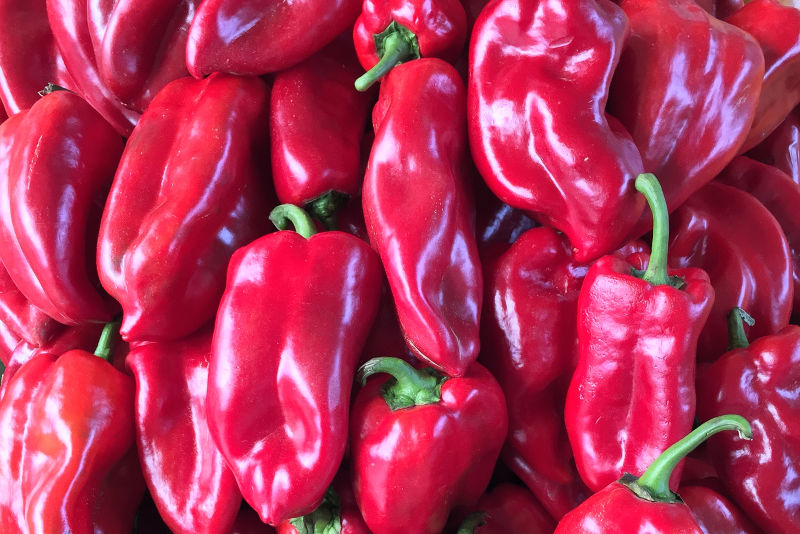 Red peppers are the main ingredient of Balkan ajvar
