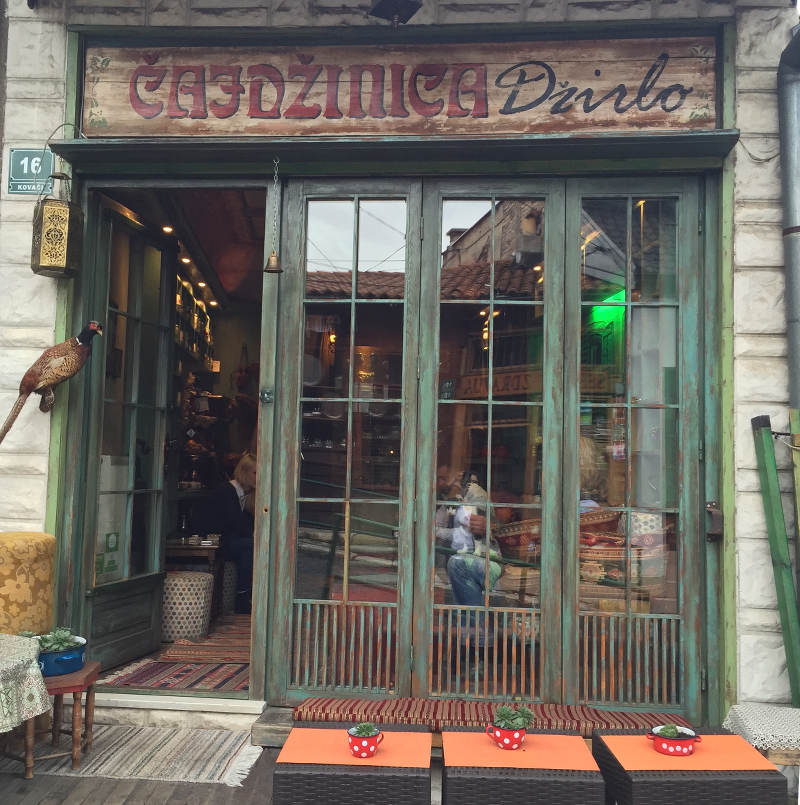 Tea shop in Sarajevo