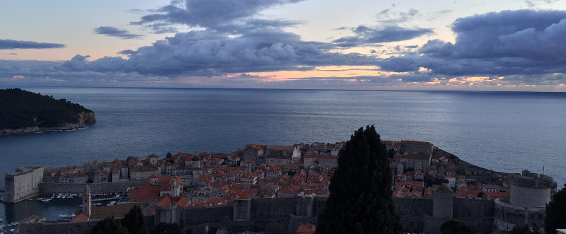 Dubrovnik has an intergalactic, other-worldly feel with amazing horizons at dawn and dusk