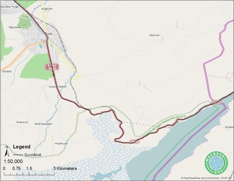 EuroVelo 8 - Montenegro biking route 01