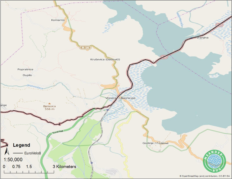 EuroVelo 8 - Montenegro route 04