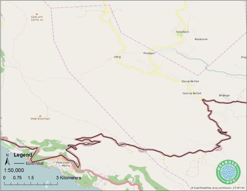 EuroVelo 8 - Montenegro route 05