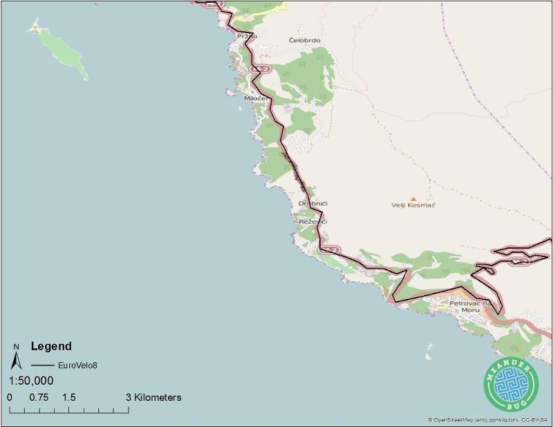 EuroVelo 8 - Montenegro route 06