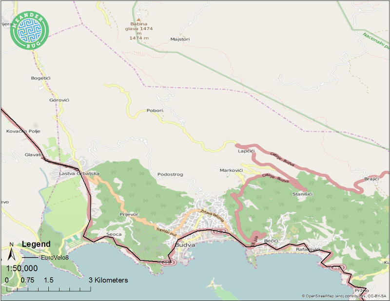 EuroVelo 8 - Montenegro route 07 (Sveti Stefan)