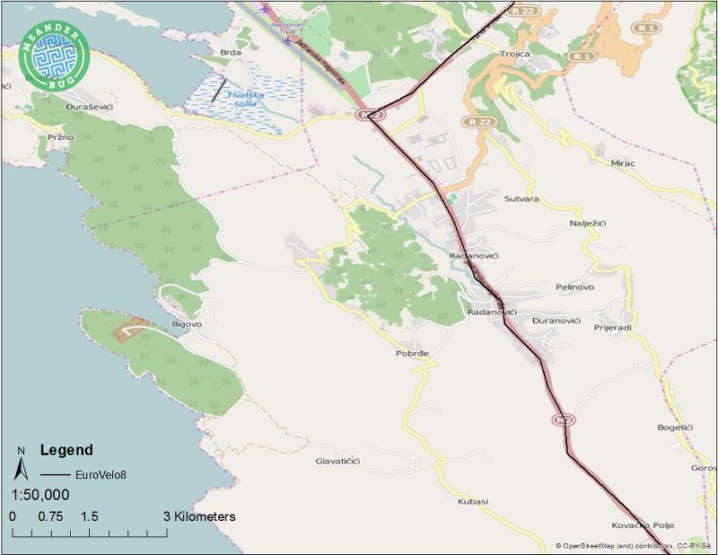 EuroVelo 8 - Montenegro route 08