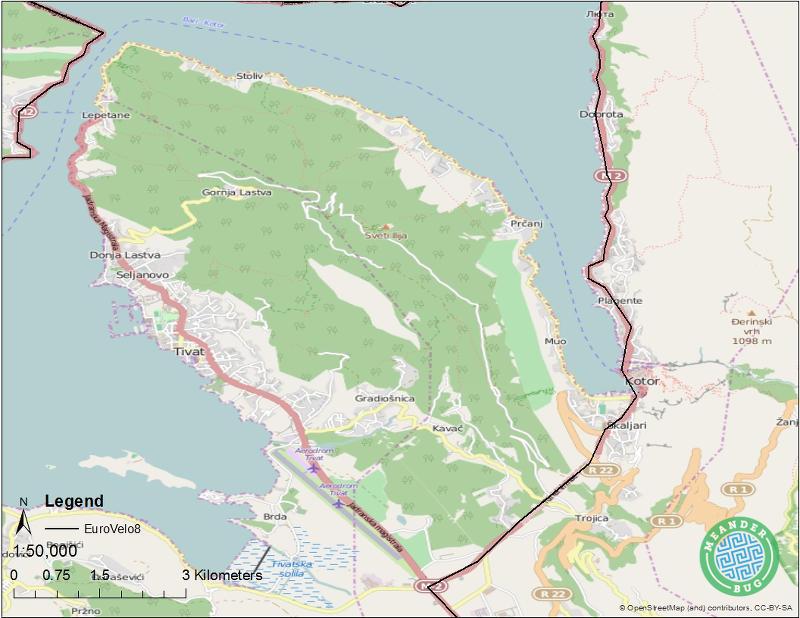 EuroVelo 8 - Montenegro route 09 (Kotor)