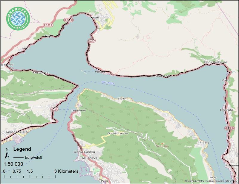 EuroVelo 8 - Montenegro route 10 (Perast)
