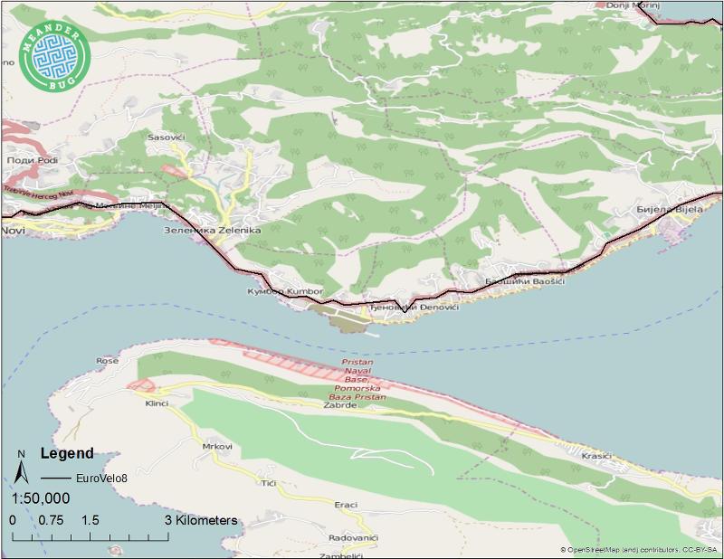 EuroVelo 8 - Montenegro route 11