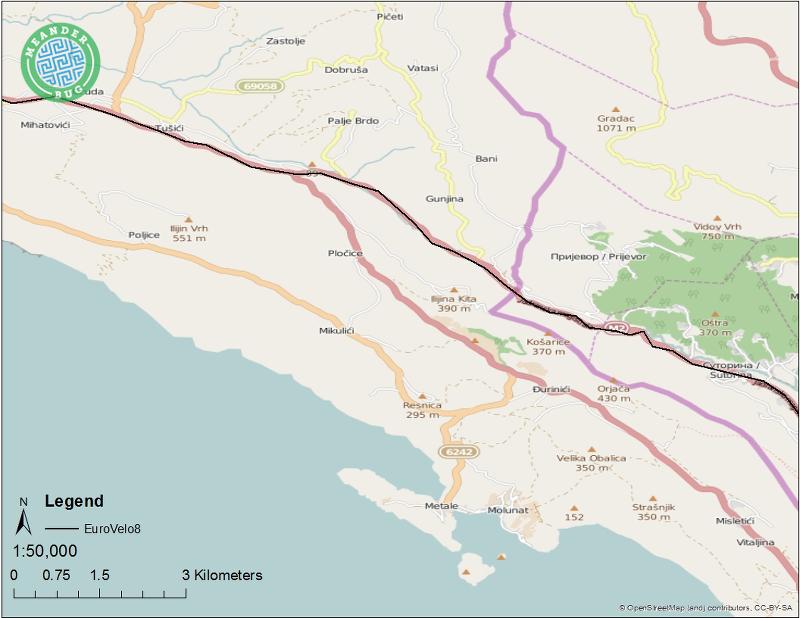 EuroVelo 8 - Montenegro route 13