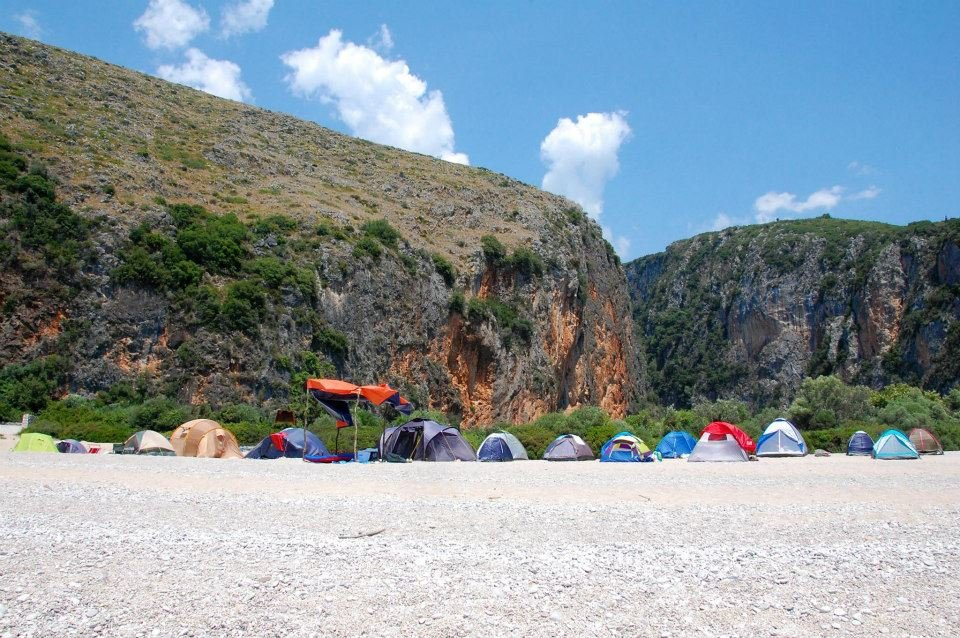 Albanian climbing festival - camping on the beach