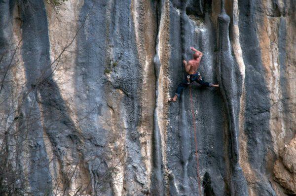 Climbing Bovilla Canyon in Albania