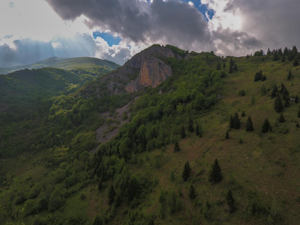 The Wall (aka The Widowmaker) near Lubnice Village in Montenegro