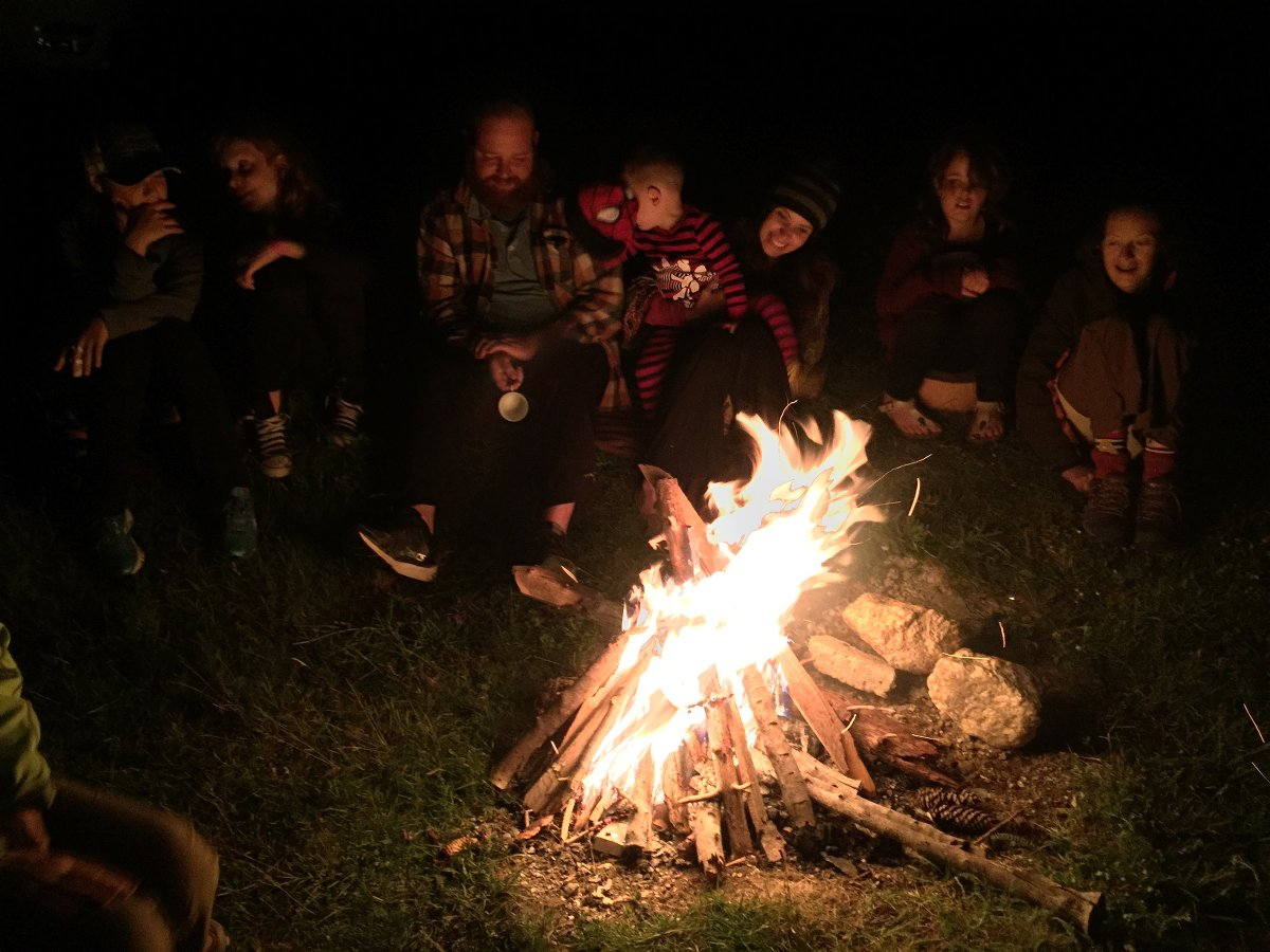 Campfire at the village