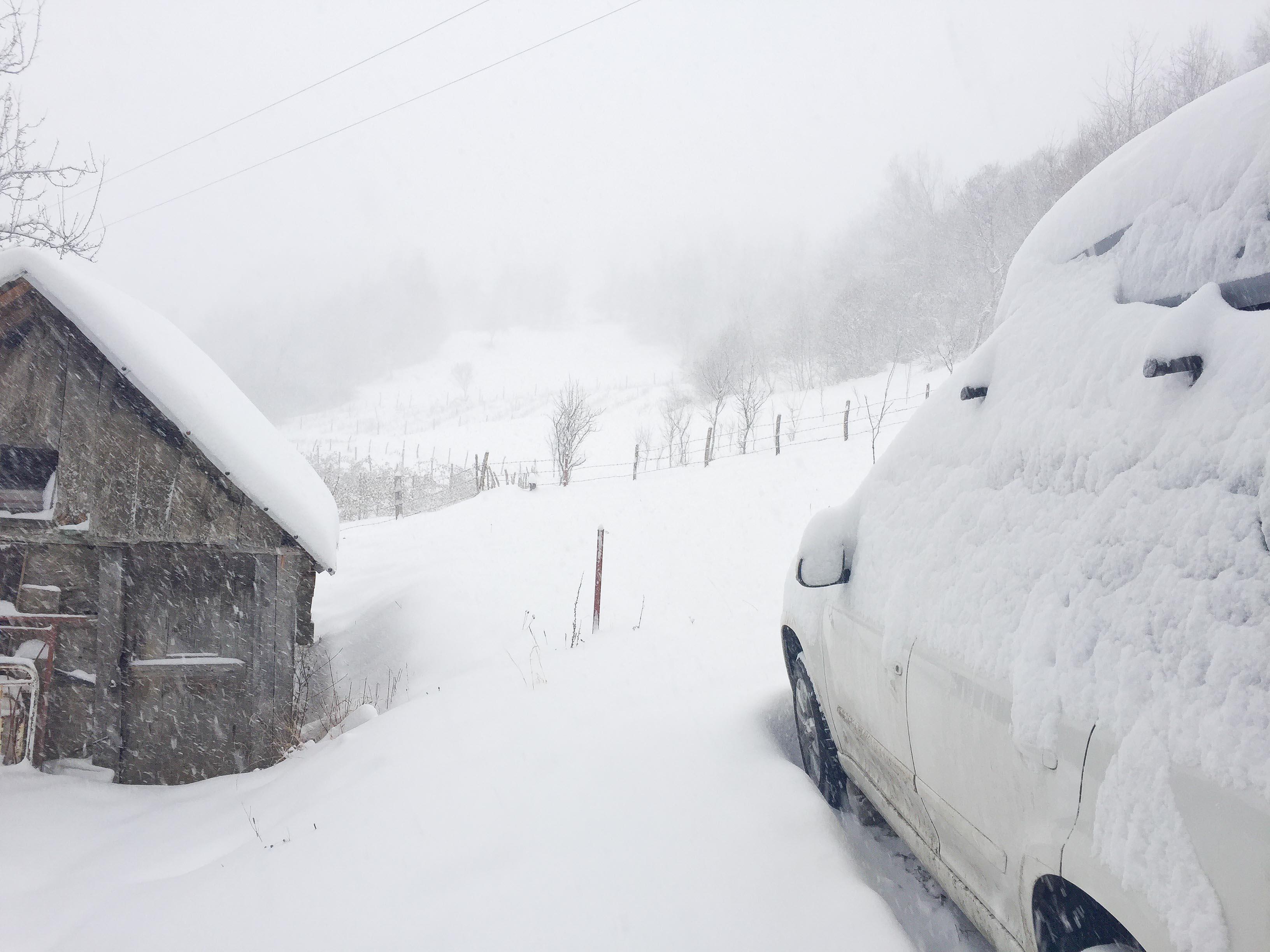 Snowy farm stay in Montenegro