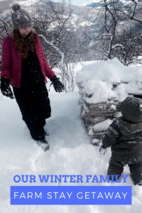 Brother and sister love at a wintry family getaway