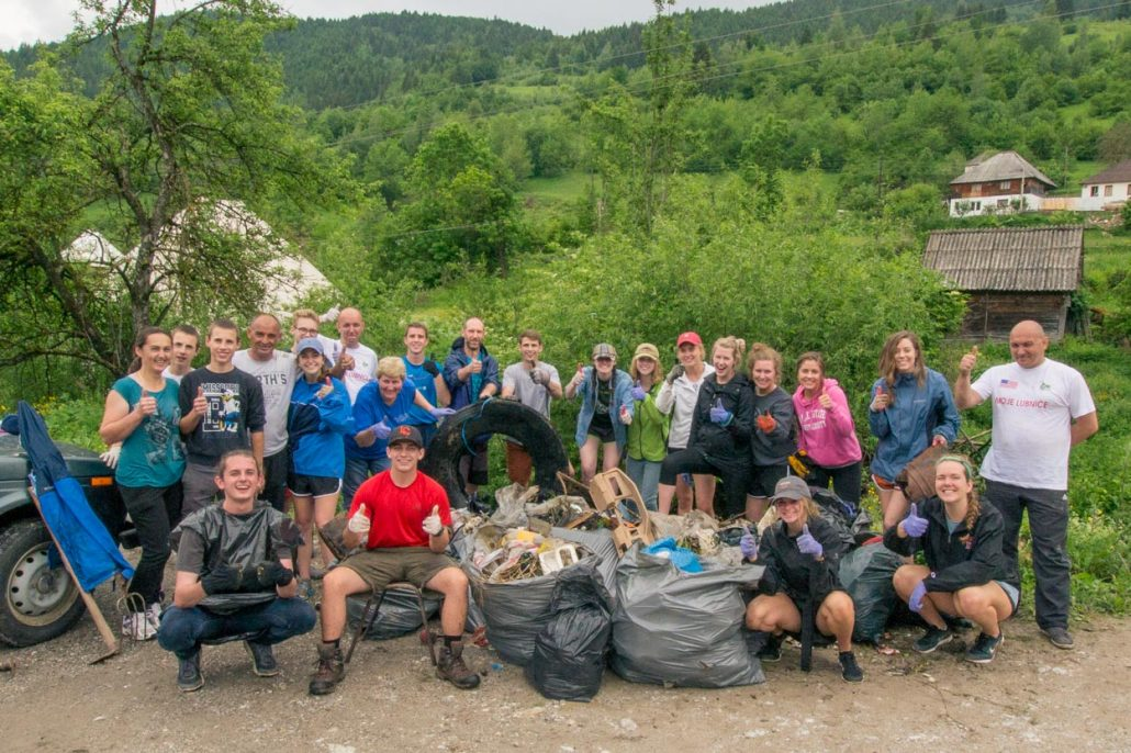 Environmental cleanup in villages of northern Montenegro are making a difference