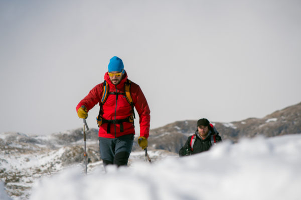 Nordic back country ski touring