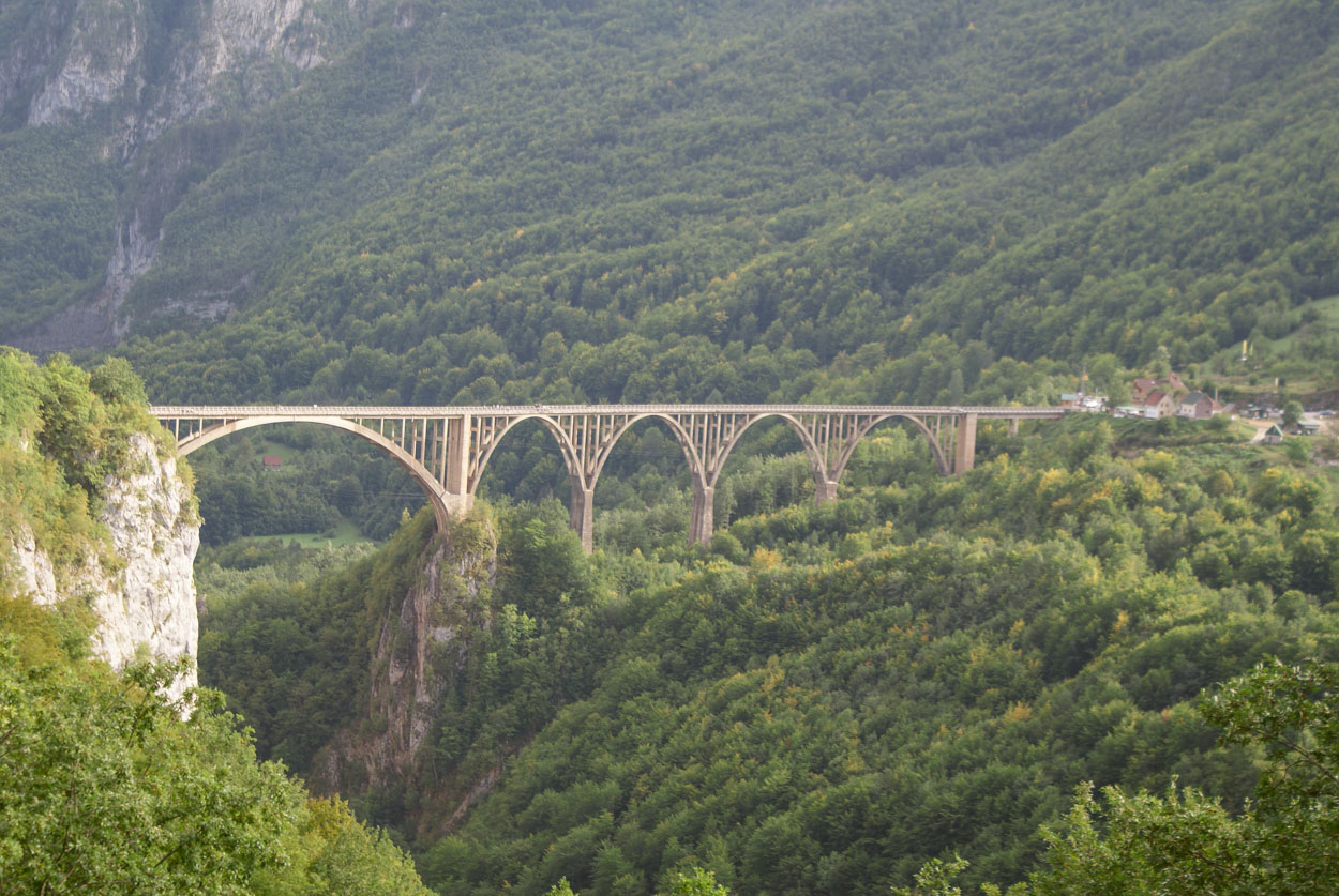 Longest Bridge in Montenegro near Durmitor UNESCO World Heritage Site