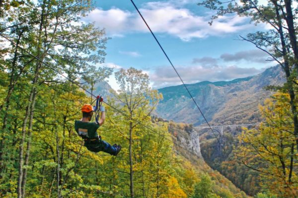 Longest zip line in Montenegro and Europe