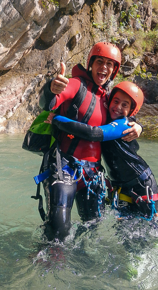 Family canyoning at Stari Bar - ideal family travel adventure