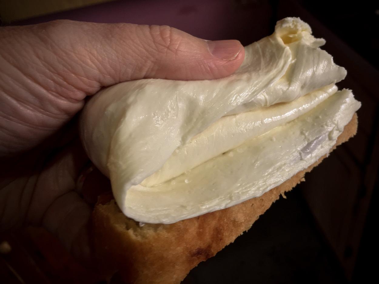 Fresh lisnati cheese with homemade bread