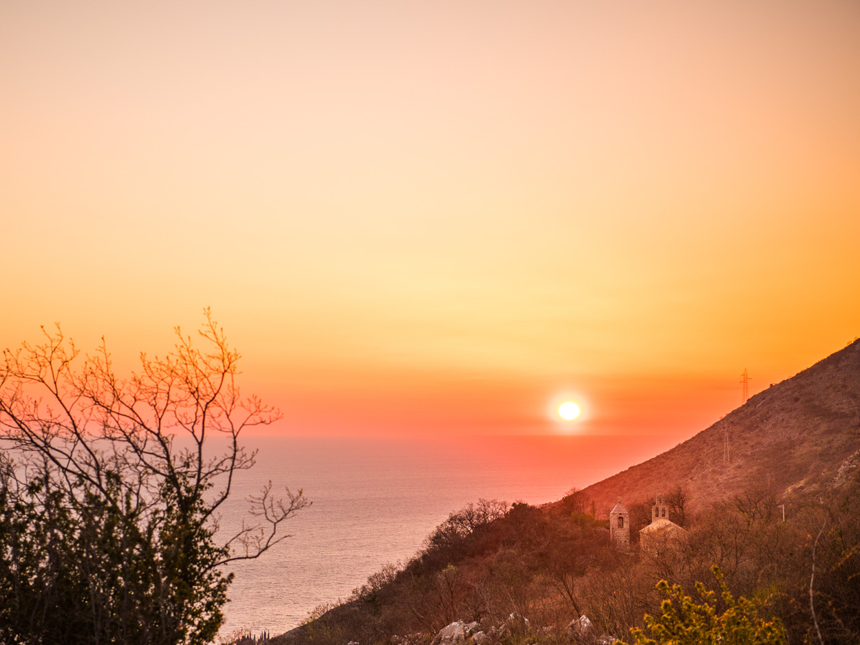 Petrovac sunset view from Zukovica Village