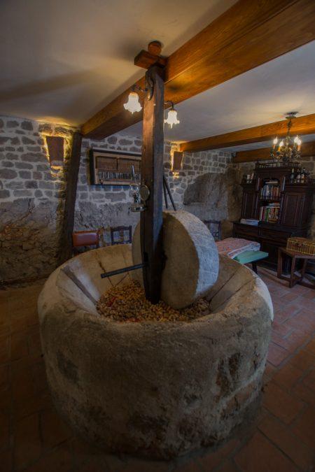 Old olive press at Klinci Village on Lustica Bay in Montenegro