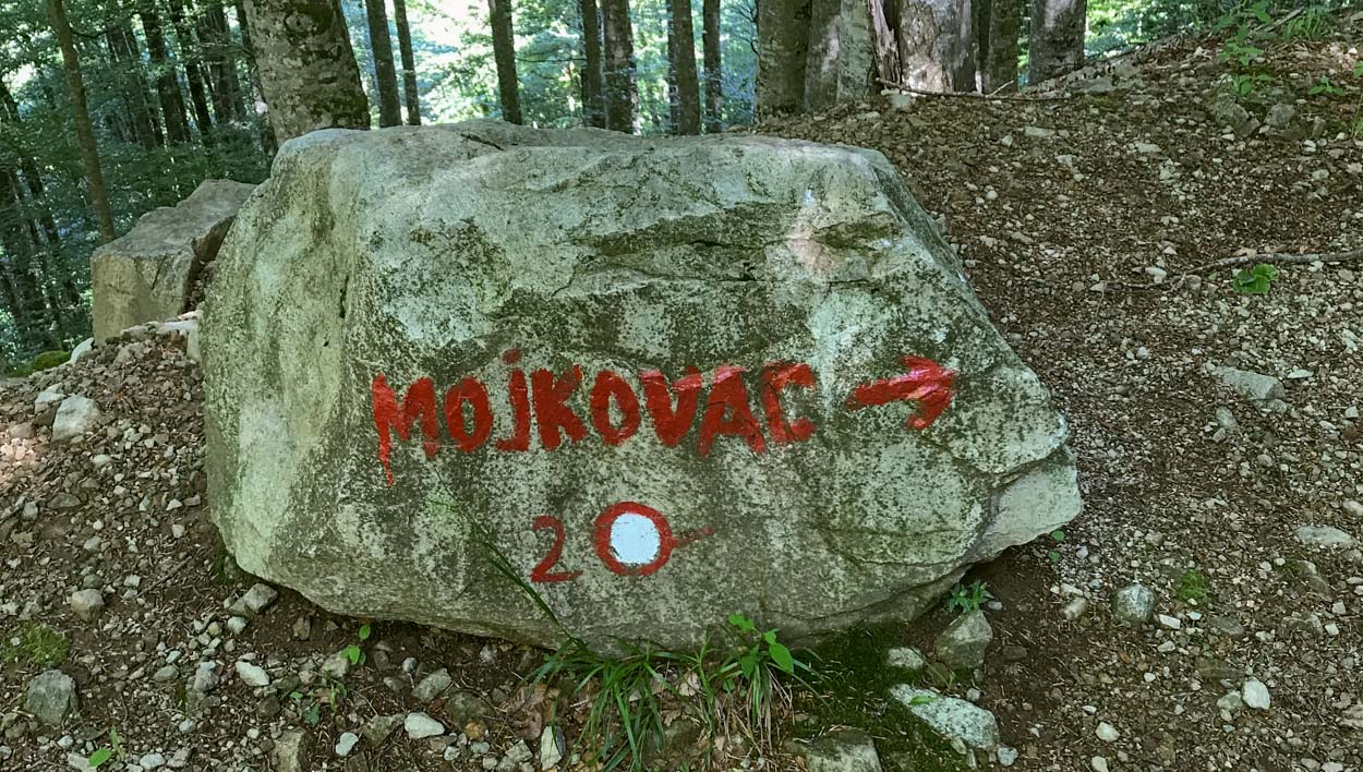 Rock marks the start of the Mojkovac trail hike