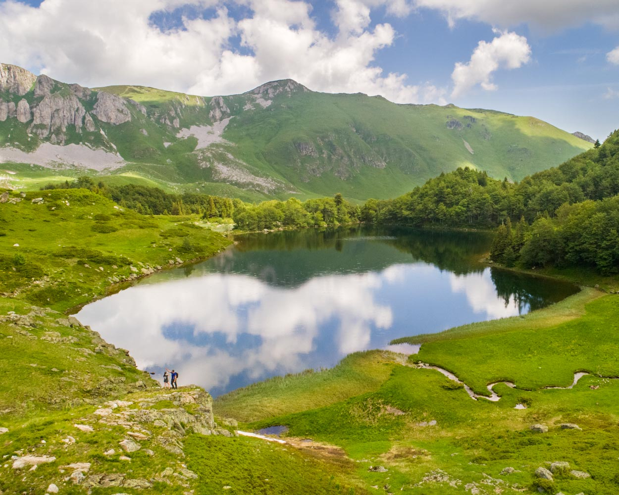 Pesic Lake or Pesica Jezero in Biogradska Gora National Park in northern Montenegro