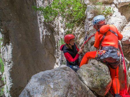 Starting the descent at Medjurecki Canyon