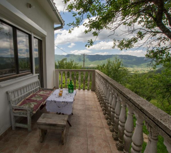 White house farm stay near Niksic, Montenegro