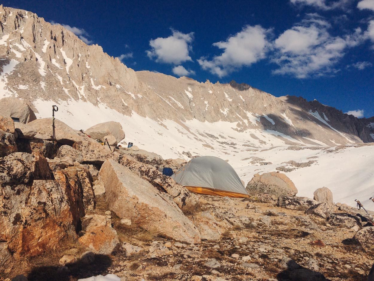 Wild camping on the Pacific Crest Trail (PCT)