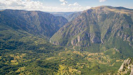 Curevac Vidikovac - lookout over Tara Canyon from Durmitor National Park