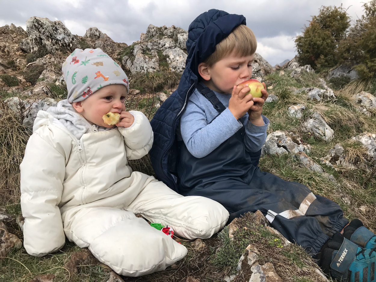 Kids loving the Durmitor adventure at farm stay above the Mountains Katun