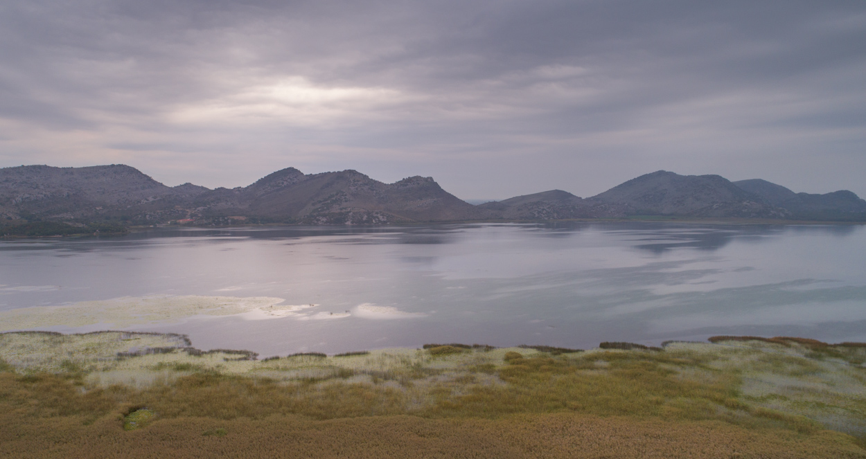 Skadar Lake on a stormy day