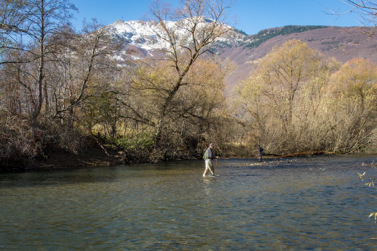 Fly fishing in Northern Montenegro during Fall