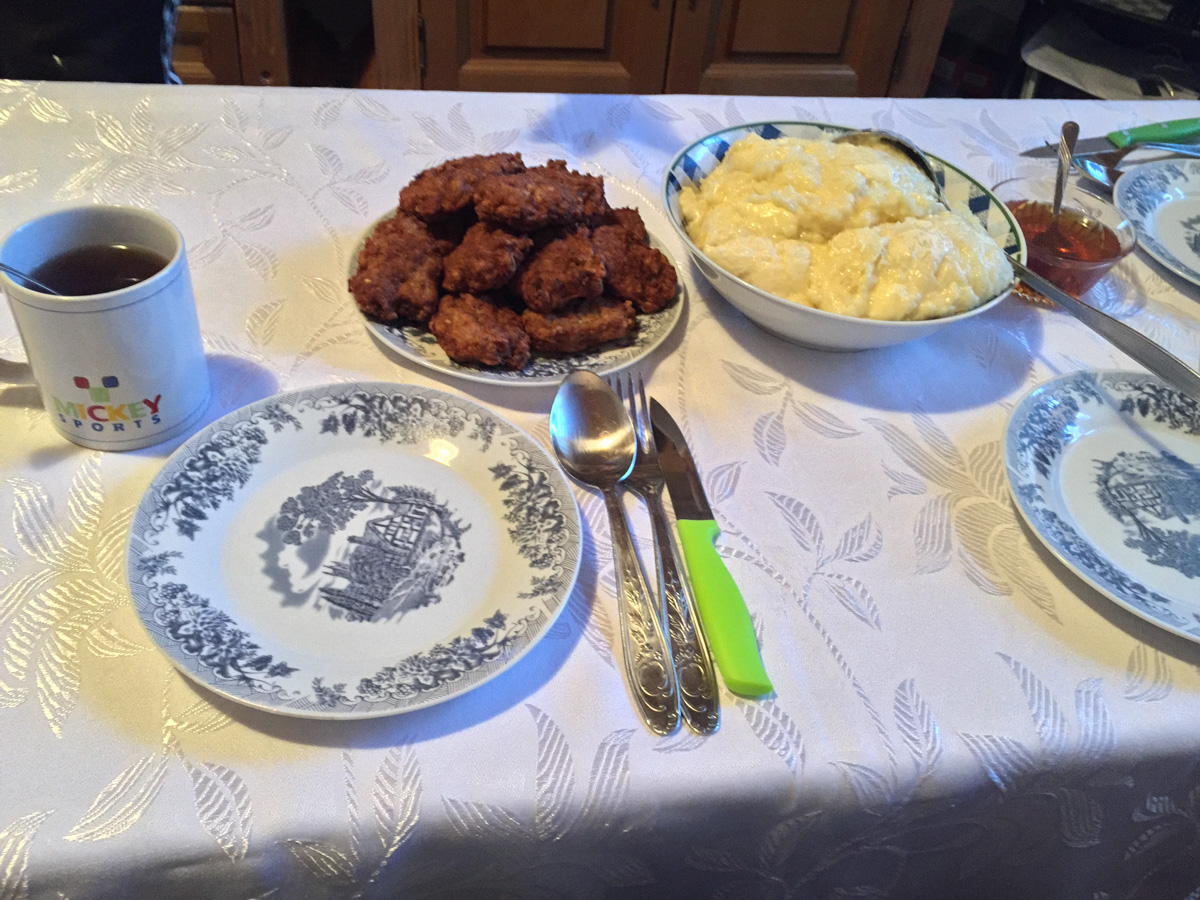 Farm to table in Montenegro includes fried veal cutlets with mashed potatoes