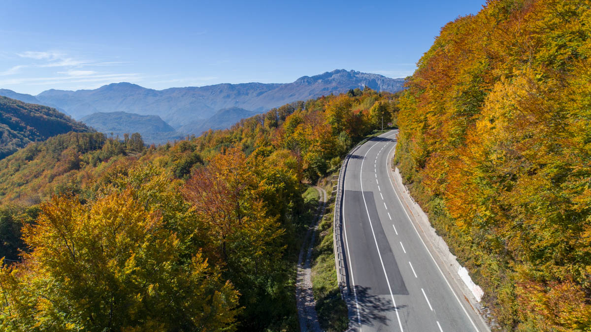most scenic roads for route planning in Montenegro