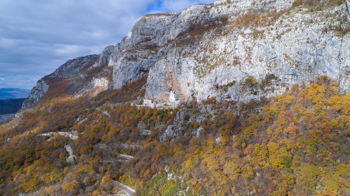 Road to Ostrog Monastery in Montenegro