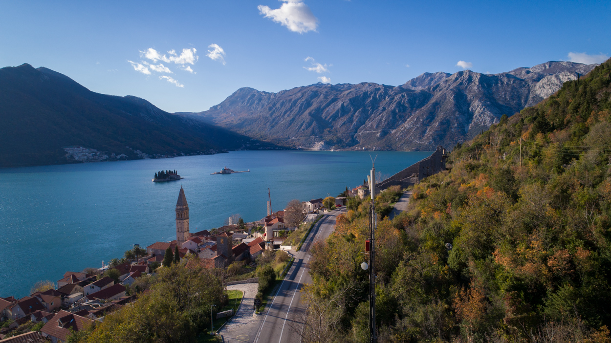Road trip Montenegro includes the Kotor Bay coastal road & Perast