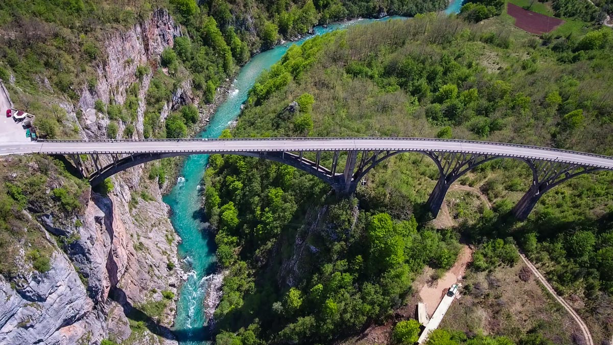 Tara Canyon bridge on the Montenegro road trip plan