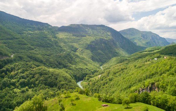 Tara River Canyon view from Kljajevica farm stay