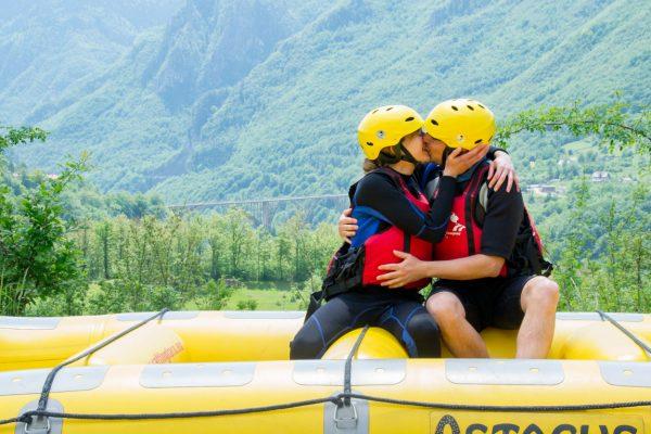 A post rafting kiss above the Tara River Canyon
