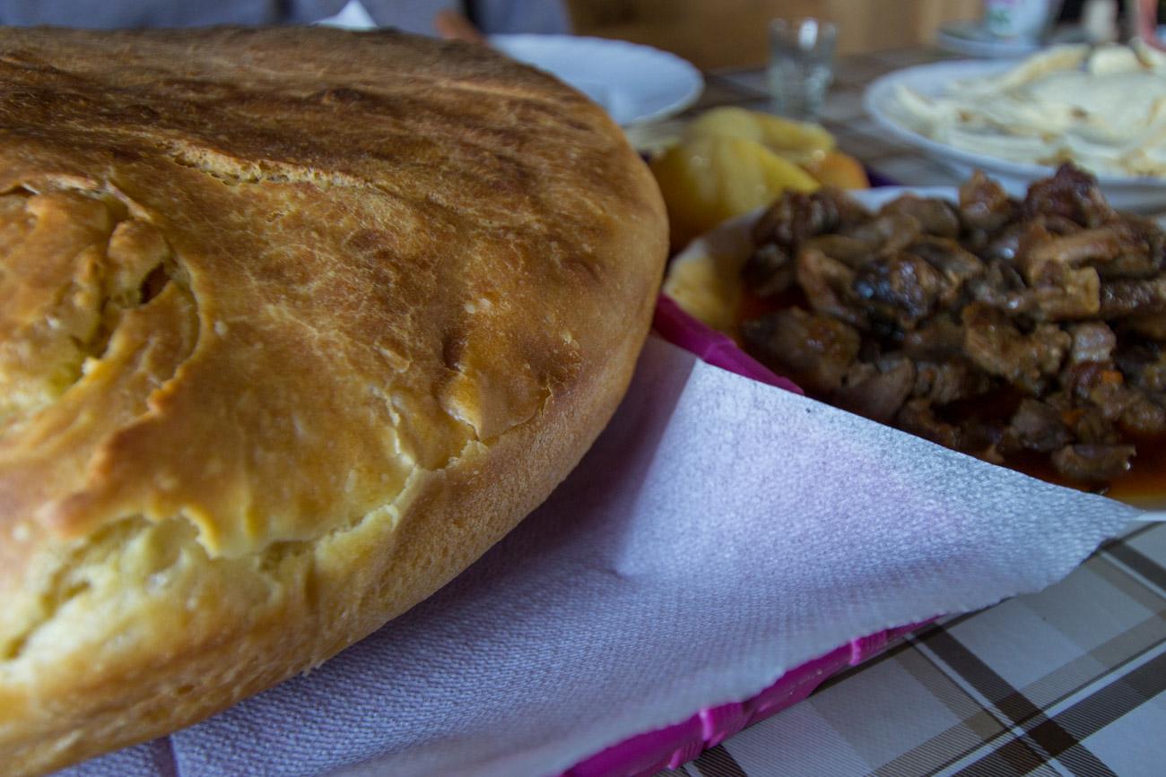 Homemade bread baked fresh at Lanasta Katun
