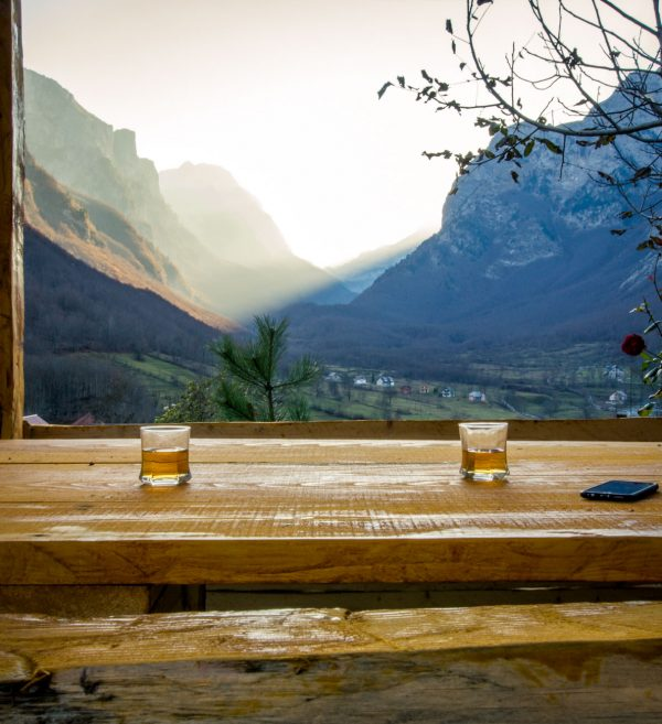 Apple juice with a view at Dedusi Guest House in Montenegro