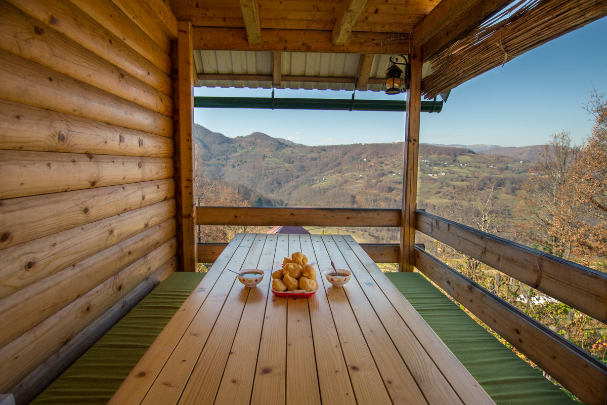 Terrace at Beekeeper's Cabin Near Bijelo Polje