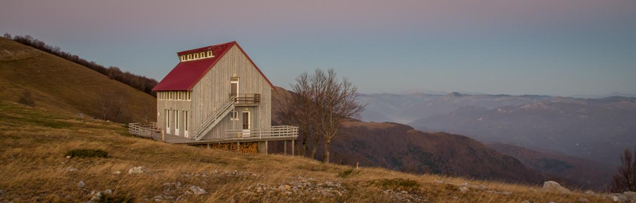 Bijelo Polje Planinarski Dom hut to hut