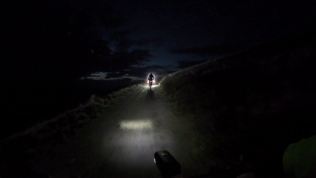 Mountain biking during the night in Montenegro