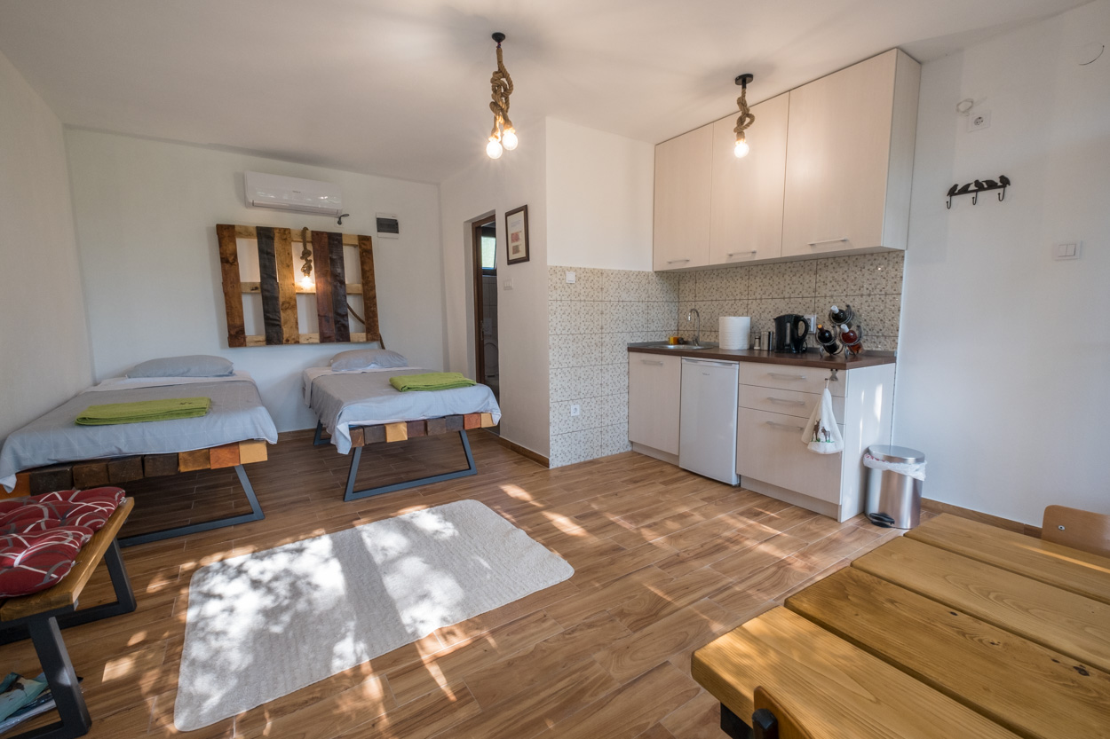 apartment at the donkey farm stay in Montenegro